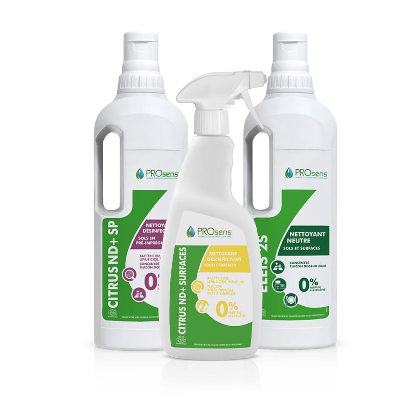Gamme de produits d'entretien écologiques du protocole OZéLO par Crèches&Co